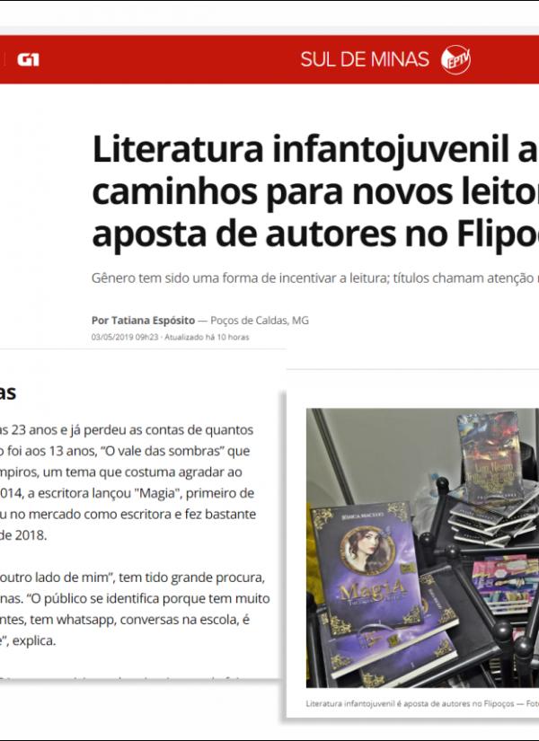 Jessica Macedo é destaque em matéria de O GLOBO – FLIPOÇOS (03/05/2019)